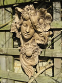 Art nouveau classical wall sculpture