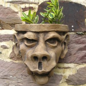 Big Tooth Garden Gargoyle Planter Dark