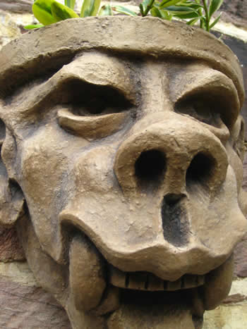Big Tooth Gargoyle Planter Dark