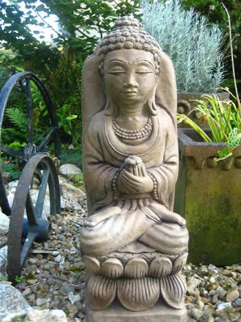 Giant Garden Statue Buddha Dark
