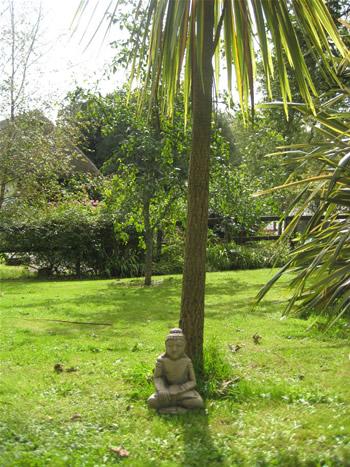 Large Buddah Garden Statue Dark
