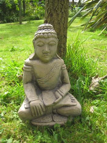 Large Buddha Garden Statue Dark