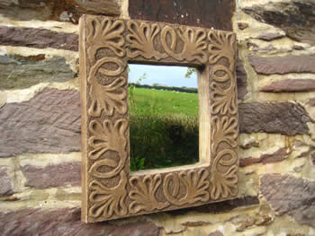 Celtic Design Leaf Mirror Dark