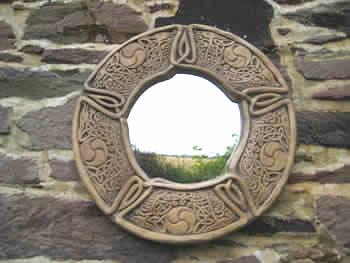 Celtic Interior Design Mirror Dark