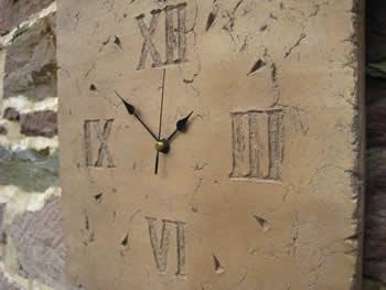 Large Wall Square Roman Clock Dark
