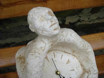 Man Clock Ornamental Pale
