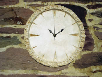 Medium Round Clock Pale