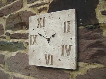 Random Roman Decorative Clock Pale