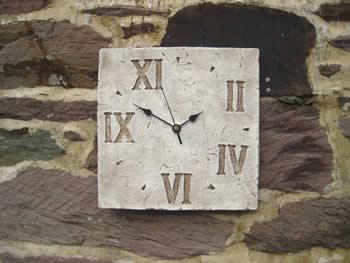 Random Roman Square Wallclock Pale
