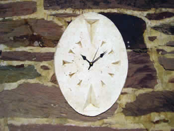 Small Oval Clock Pale