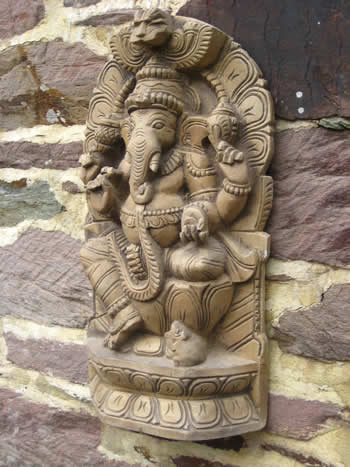 Super Ganesh Wall Sculpture Dark