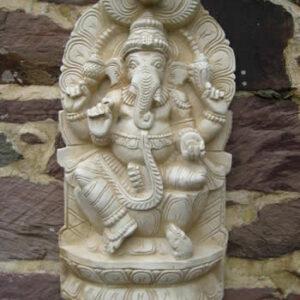 Super Ganesha Wall Plaque Pale