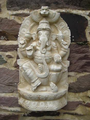 Super Ganesha Wall Plaque Pale