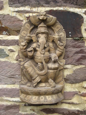 Super Ganesha Wall Sculpture Dark