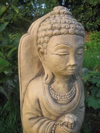 Giant Buddha Garden Ornament Dark