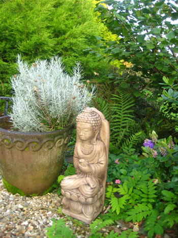 Giant Buddha In The Garden Dark