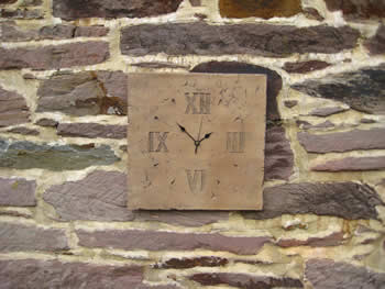 Large Square Unusual Roman Clock Dark