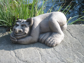 Large Sleeping Troll Dark Sculpture