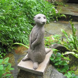 Left Meerkats Statue Dark