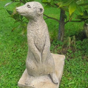 Right Meerkats Garden Decor Dark