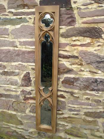 Gothic Church Panel Mirror Dark