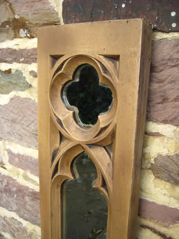 Gothic Long Panel Mirror Dark