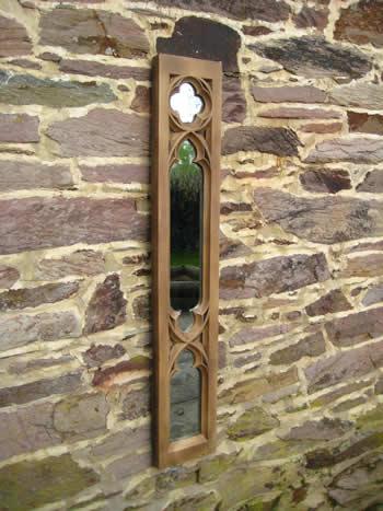 Gothic Panel Church Mirror Dark