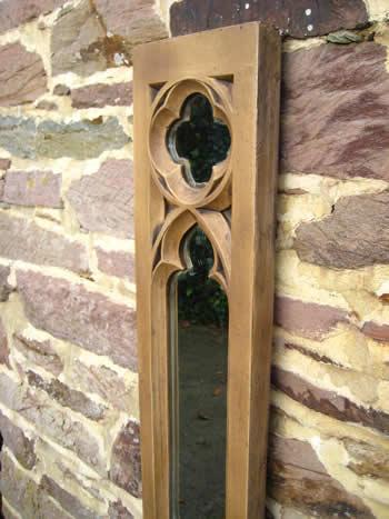 Gothic Panel Mirror Dark
