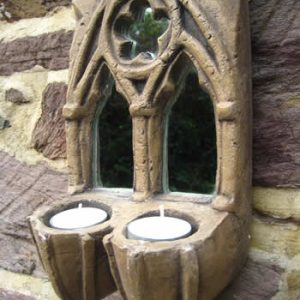 Small Gothic Ornament Candleholder Dark