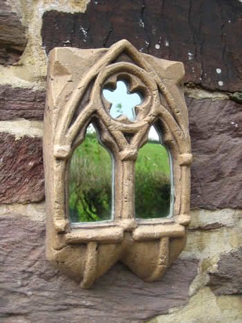 Small Gothic Ornamental Gift Mirror Dark