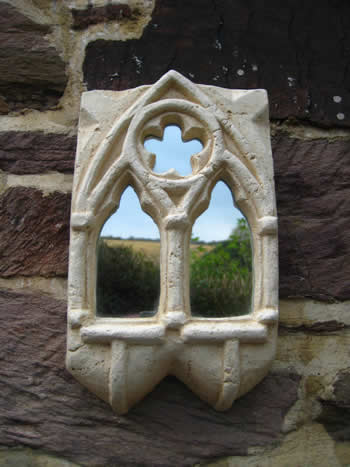Small Gothic Wall Mirror Pale