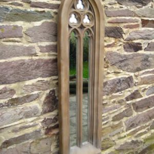 Tall Gothic Church Window Mirror Dark