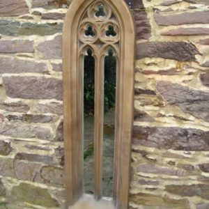 Tall Gothic Churchwindow Mirror Dark