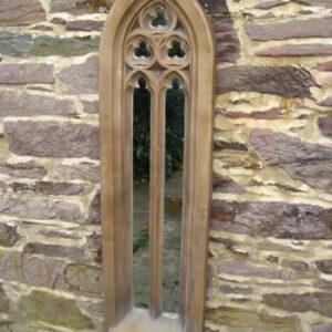 Tall Gothic Churchwindow Mirror Dark