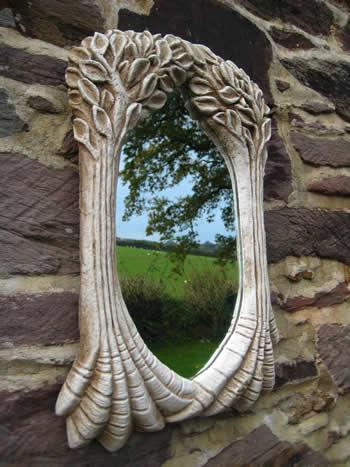 Tree Mirror Pale