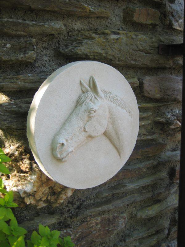 European Gate Post Horse Sculpture