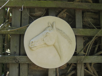 European Horse Sculpture For Gate Posts