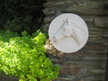 European Horse Wall Sculpture