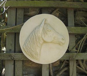 Plaque Sculpture Of Horse