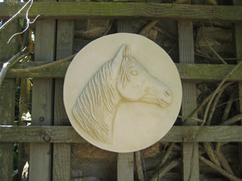 Plaque Sculpture Of Horse