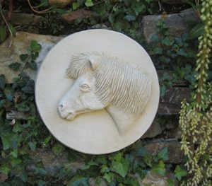 Shetland Pony Sculpture For Gate Post