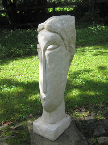 Giant Modigliani Reproduction Statue