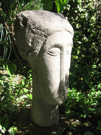 Large Modigliani Garden Statue Dark