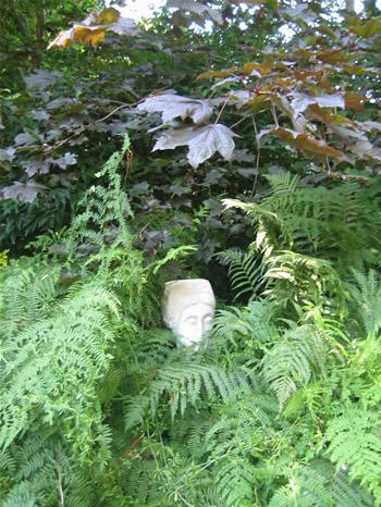 Large Modigliani Garden Statue Pale