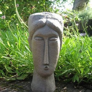 Medium Modigliani Garden Statue Dark