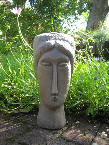 Medium Modigliani Garden Statue Dark