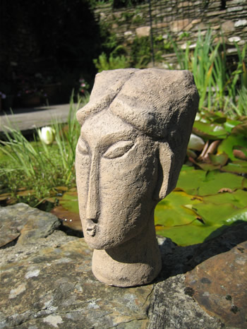 Small Modigliani Garden Ornament Dark