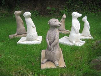 Set Of Meerkats Family Statues