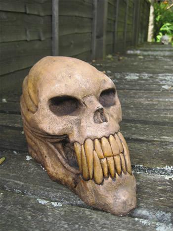 Large Alien Outdoor Skull Dark