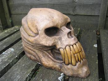 Large Alien Skull Dark